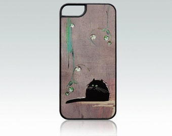 Cat iPhone 5 case, black cat iPhone 5s cover, fat cat iPhone SE case, funny cat iPhone 5 case, nature iPhone case, cute, cool, unique