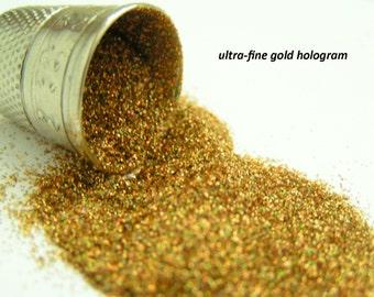 glitter (solvent-resistant) - gold hologram ultra-fine