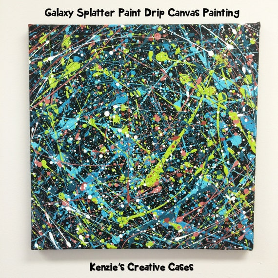 how to make paint drip on canvas
