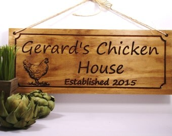Chicken Coop Sign Hen House Plaque  Eggs Farm Signs Gift idea for chicken /rooster lover! Benchmark Signs & Gifts #45