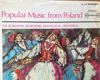 Popular Music From Poland - The Burlewski, Krakowski, Kwiatkowski Orchestras - vinyl record