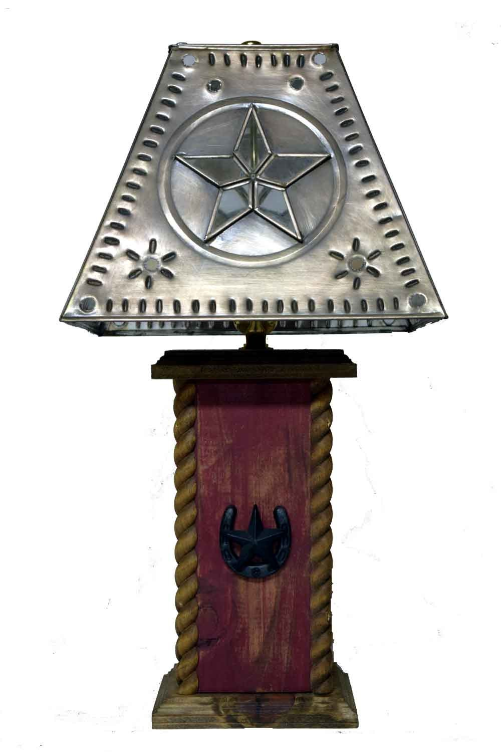 Western table lamps - 18 Usb Rustic Lamps Western Lamps Star Horseshoe Table Lamp With Usb Power Center