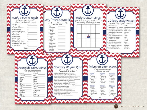 Attractive Nautical Baby Shower Games   Nautical Shower Games, Beach Baby Shower Games,  Sailor Baby Shower Games, Anchor Baby Shower, Beach Baby Games
