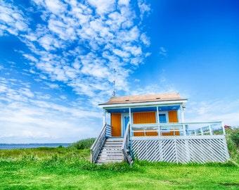 sunny beach hut