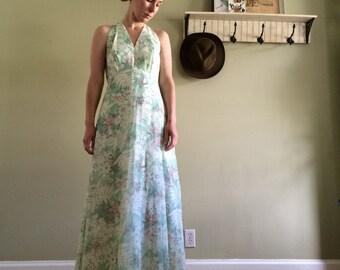 Botanical Bridesmaid Maxi Dress