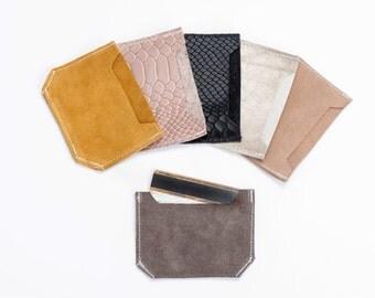 Leather card holder, Credit card case, Sale!
