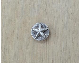 "Raised Star Concho 5/8"" Old Silver Western - 34013"