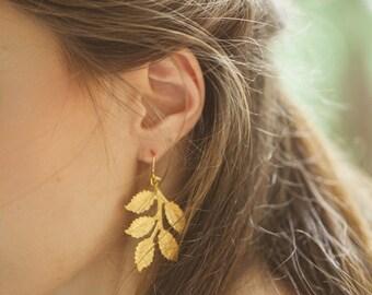 Gold Grecian Leaf Earrings Grecian Leaf Jewelry Greek Goddess Grecian Weddings Grecian Bride Grecian Bridesmaids Grecian Bridal Accessories
