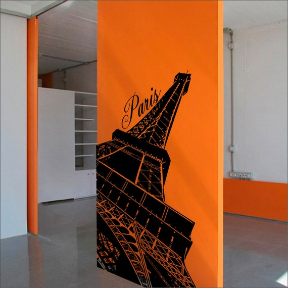 Eiffel Tower Wall Decal Home Decor Wall Decal Vinyl