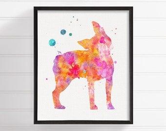 Boston Terrier Art, Boston Terrier Watercolor, Boston Terrier Print, Boston Terrier Poster, Dog Wall Decor, Dog Lover Gift, Kids Room Decor