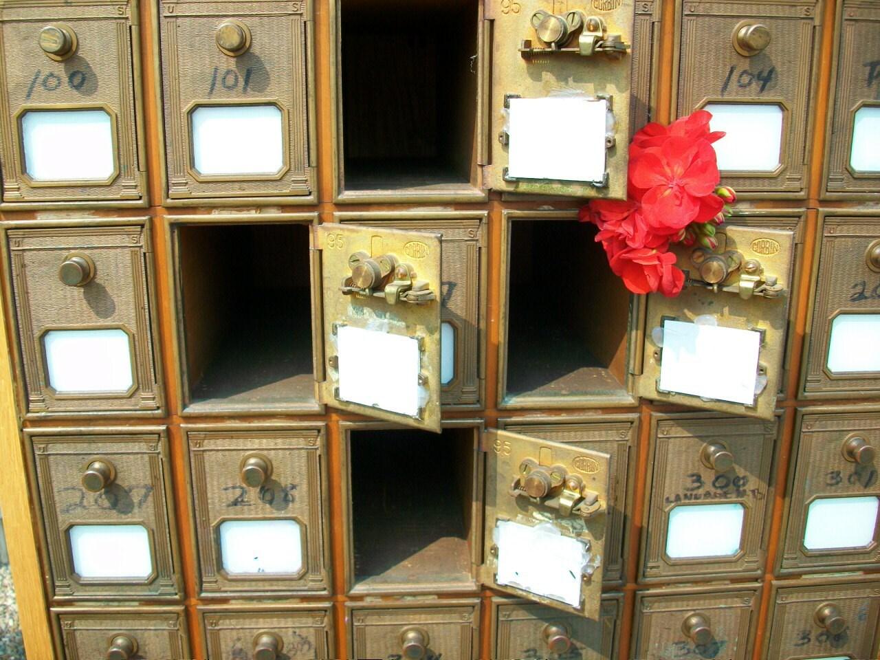 Merveilleux Vintage Post Office / Hotel Mailbox From The 1960u0027s U2013 Antique Mail Box U2013  Collectible Home Decor U2013 Home And Living U2013 Vintage Postal U2013 Haute Juice