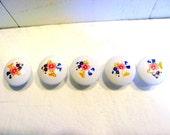 Porcelain Floral Vintage Decorative Cabinet Hardware Knobs