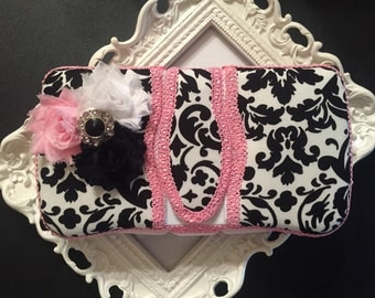 Travel wipe case-pull from top travel wipe case-handmade travel wipe case