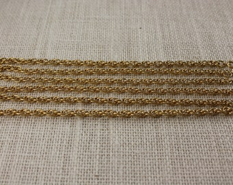 "Vintage 7 1/4"" Gold Braid Chain Bracelet (Set of 4)"