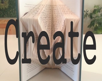 "Folded Book Pattern: ""Create"" by DIYMarta"