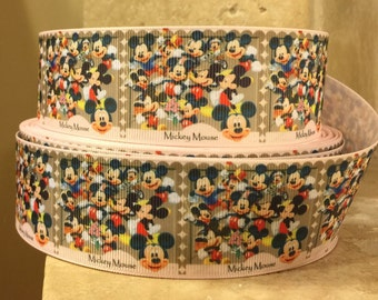 "5 YDS Mickey Mouse Collage Ribbon (1.5"")"