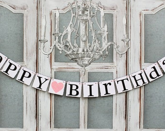 HAPPY BIRTHDAY BANNERS-Happy Birthday Banner Decorations-Rustic birthday Decorations-birthday Party