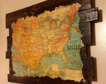 Antique US Map