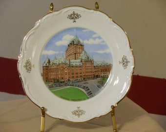 German-Made Chateau Frontenac, Quebec Plate