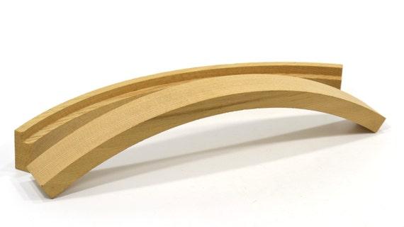 2 Unfinished Oak Curved Furniture Parts Wooden Furniture