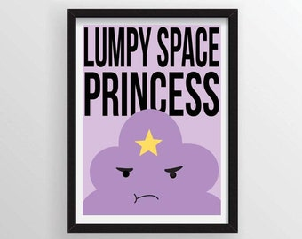 Lumpy Space Princess from Adventure Time Premium Poster - A3 and 13 x 19 Available