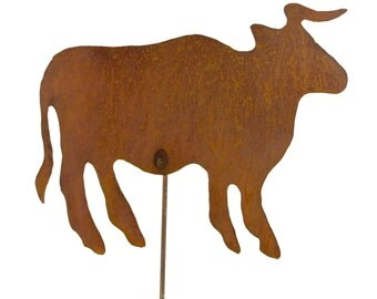 Bull, Cow Metal Garden Stake, Yard Art GS11