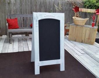 Wedding chalkboard. Sandwich board. 24 by 46 inches. Rustic chalkboard