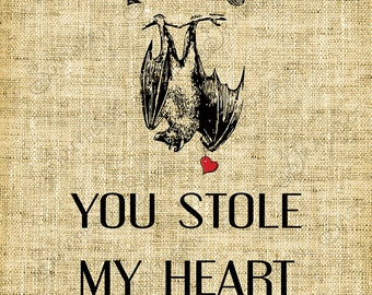 You stole my heart/Love/Valentines Day//Digital Design - INSTANT DOWNLOAD