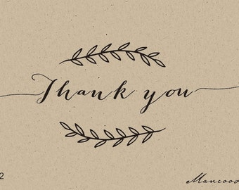 custom  Stamps- wreath floral-   Custom rubber Stamp -thank you custom rubber stamp for personalized flower seed wedding favors