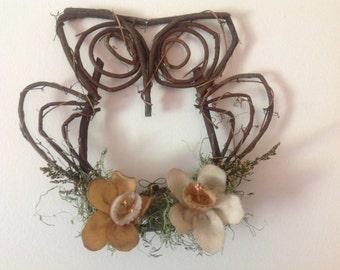 Grapevine Owl Wreath