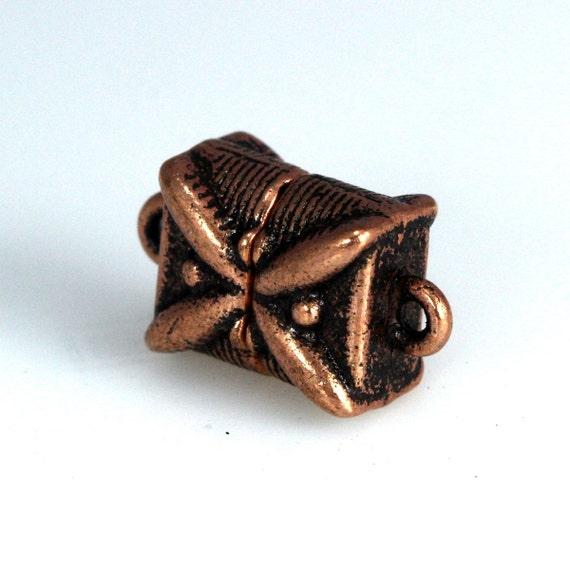 """Bracelet necklace clasp 1 strands 5 pcs  9 mm 0,35"""" antique copper tone alloy magnetic clasp MCL AC1193"""