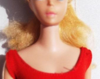 Mattel Vintage Barbie Red Swimsut Redhead Titian Doll 6TH? Series