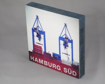 Hamburg on wood - Hamburg Süd