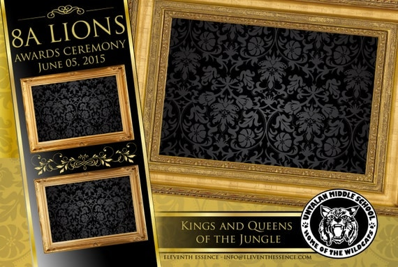Photo Booth Design Layout Template Gold And Black Royalty