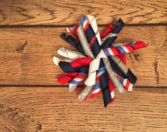 Red, White, and Blue Korker Hair Bow