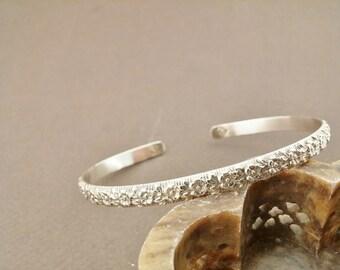 Sterling Silver Cuff Bracelet,Pattern Silver Cuff Bracelet,Gifts For Her,Silver Bangles,Minimalist Bracelets,Stacking Bracelets