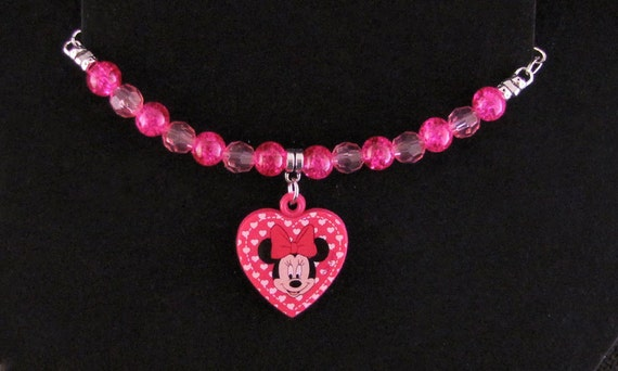 Pink Kid Sized Mini Mouse Bracelet - Item Number 2047