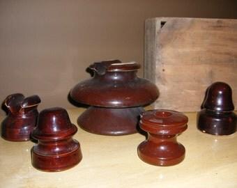 Brown Ceramic Insulator Collection