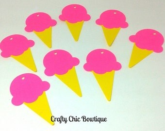 Ice Cream Party Gift Tags