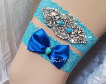 Wedding / Bridal / Rhinestone Garter/ wedding garters / bridal garter/ lace garter / Vintage Garter
