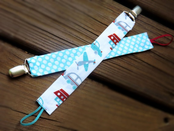 monogrammed fabric pacifier clip and holder by lovesewamazing