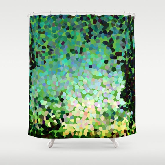 Where To Hang Curtains Black Green Shower Curtain