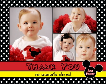 Mickey Mouse Inspired Thank You Card