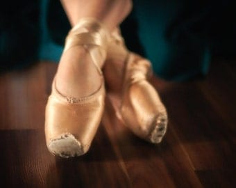 Ballet Pointe Shoes: 8x10 photography print.