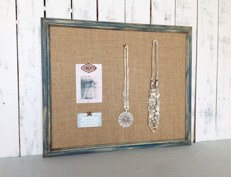 Framed Cork Board Bulletin Board Shabby Chic By
