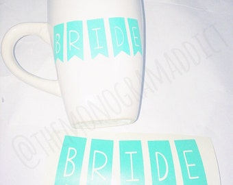 Pennant Garland Font Decal