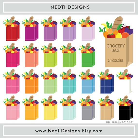 Clip Art Grocery Bag Clipart 24 grocery bag clipart colorful groceries rainbow by nedtidesigns color bags clip art png