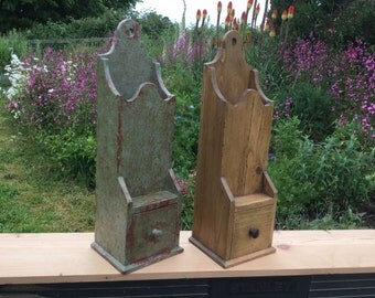 19th century style wall boxes made from reclaimed old pine.