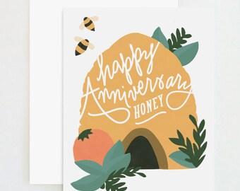 Happy Anniversary Honey Bee Card