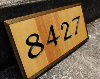 Custom House Number Sign w/Edging